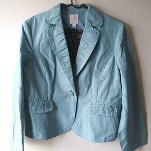 Think Tank Party Blazer Size XL Teal Blue